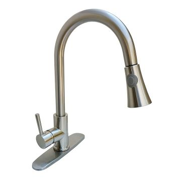 Windsor Brushed Nickel Pull-Down Faucet with Magnetic Docking