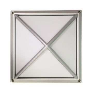 Outdoor Pyramid Flush Mount Light