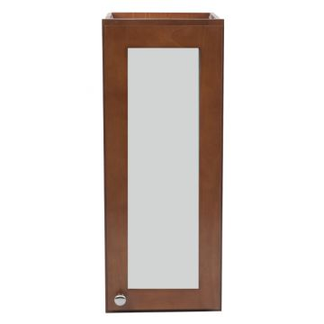 """W2130-FG - 21"""" x 30"""" Cherry Wall Cabinet with Frosted Glass Door"""