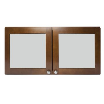 "W3012-FG - 30"" x 12"" Cherry Wall Cabinet with Frosted Glass Door"