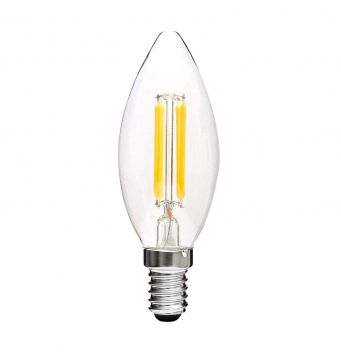 4W LED Candelabra Light Bulb - 4000K, 2 Pack