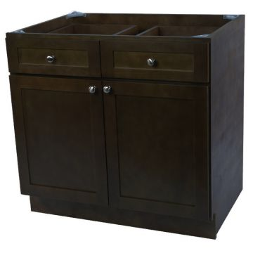 "B27 - 27"" Espresso Kitchen Base Cabinet"