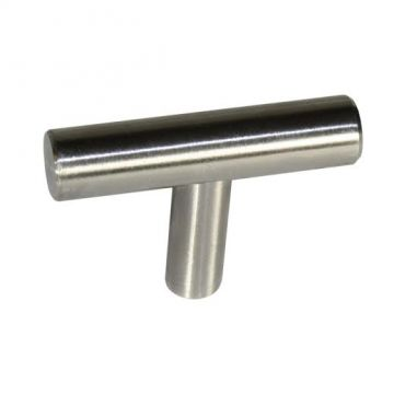 Brushed Nickel T-Shaped Cabinet Pull - Box of 50