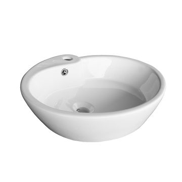 Penelope Descending Oval Ceramic Sink