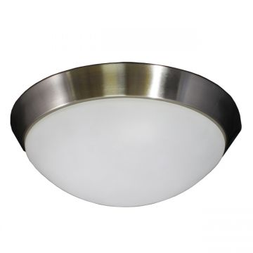 "Radford 13"" Brushed Nickel Ceiling Flush Mount"