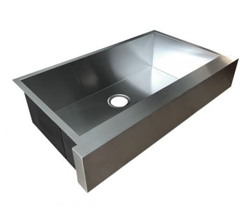 "36"" Stainless Steel Apron-Front Farmhouse Sink"