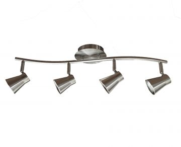 Madigan 4-Bulb Curved Track Light