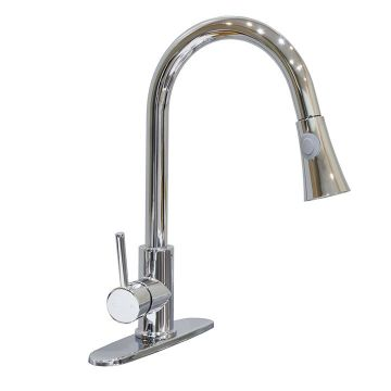 Windsor Polished Chrome Pull-Down Dual Spray Faucet
