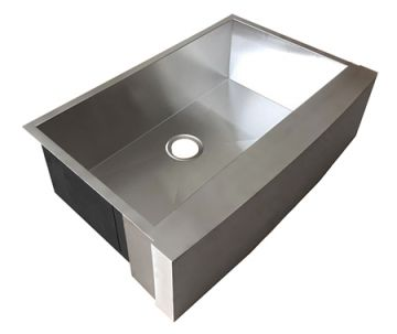 "33"" Stainless Steel Apron-Front Farmhouse Sink"