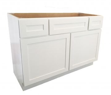 "VCD42-2D - 42"" White Vanity Combo Drawer Base Cabinet"